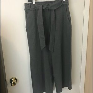 Zara cropped tie waistband pants